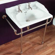 Silverdale Victorian 635mm Wide Basin with Chrome Stand Medium Image