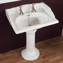 Silverdale Victorian 635mm Wide Basin with Full Pedestal Medium Image