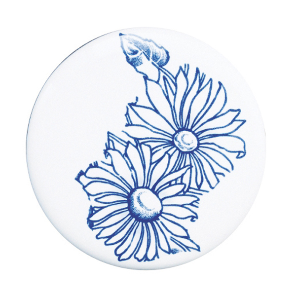 Silverdale Victorian Blue Garden Pattern 635mm Wide Basin with Full Pedestal profile large image view 4