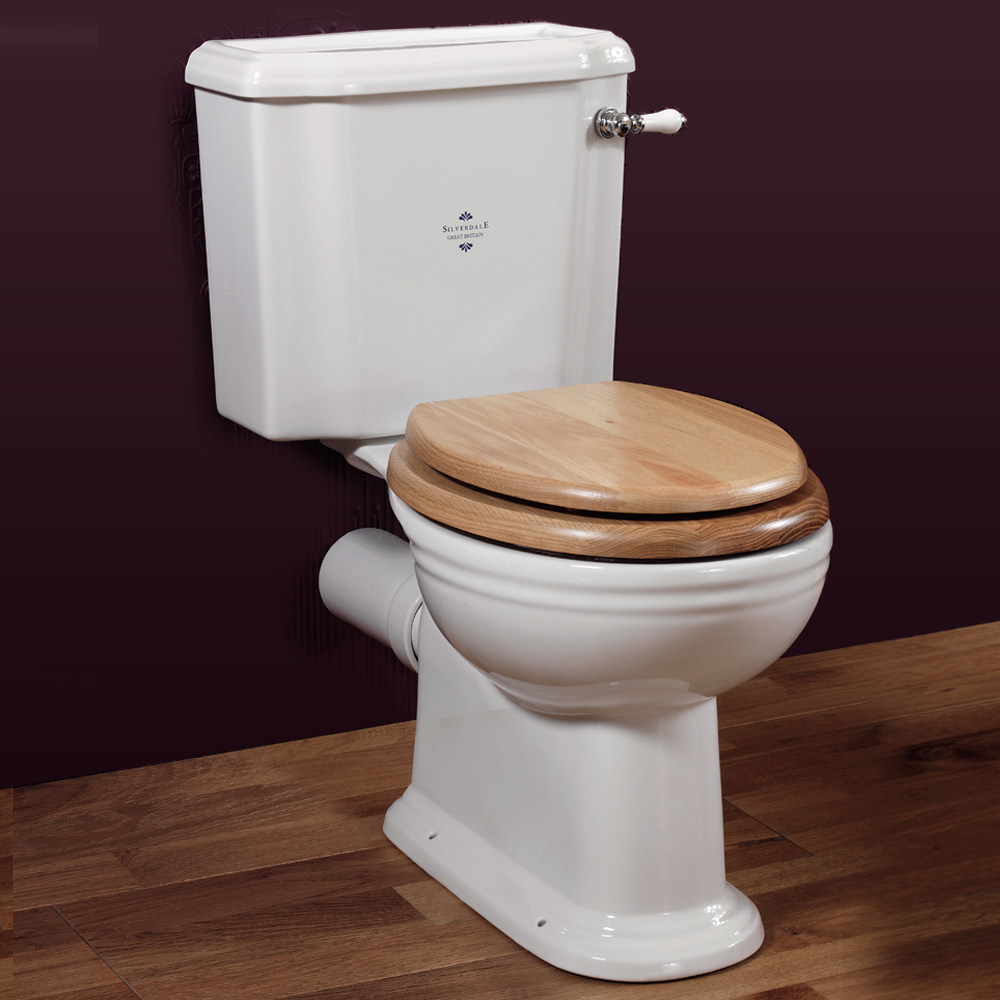 Silverdale Victorian Close Coupled Toilet - Excludes Seat Large Image