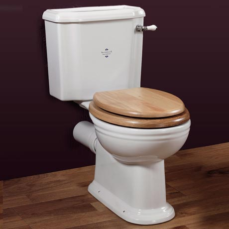 Silverdale Victorian Close Coupled Toilet - Excludes Seat