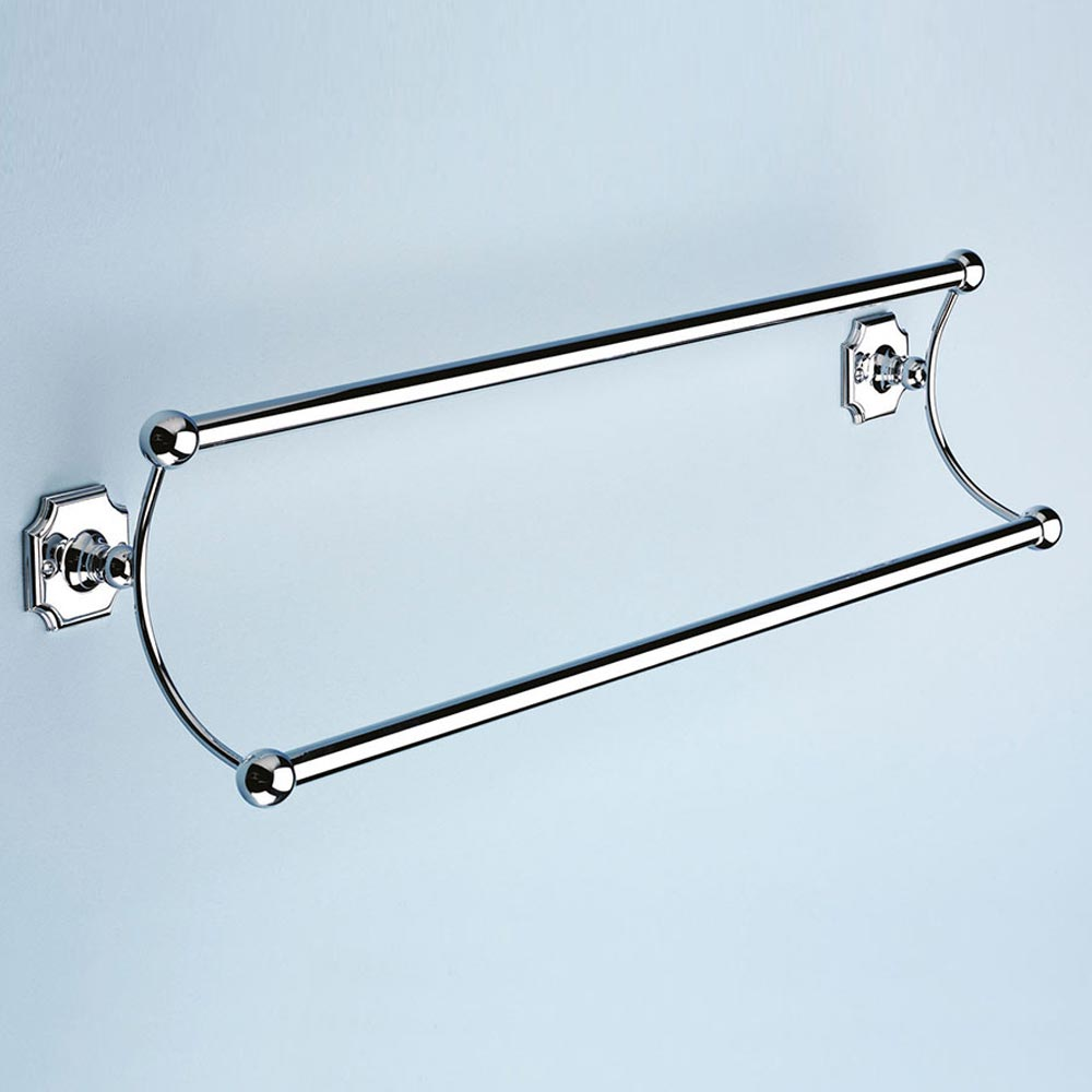 Silverdale Luxury Victorian Double Towel Rail (525mm Wide - Chrome) profile large image view 1