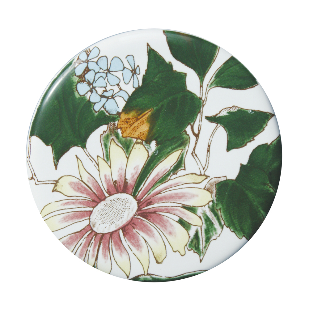 Silverdale Victorian Garden Pattern 635mm Wide Basin with Full Pedestal profile large image view 3