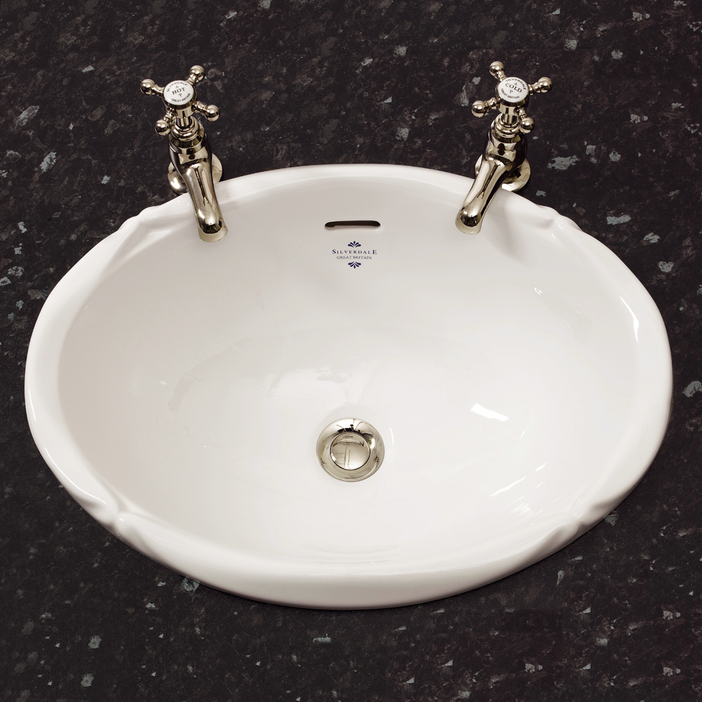Silverdale Victorian Inset Basin (510mm Wide - 0 Tap Hole) Large Image