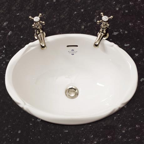 Silverdale Victorian Inset Basin (510mm Wide - 0 Tap Hole)