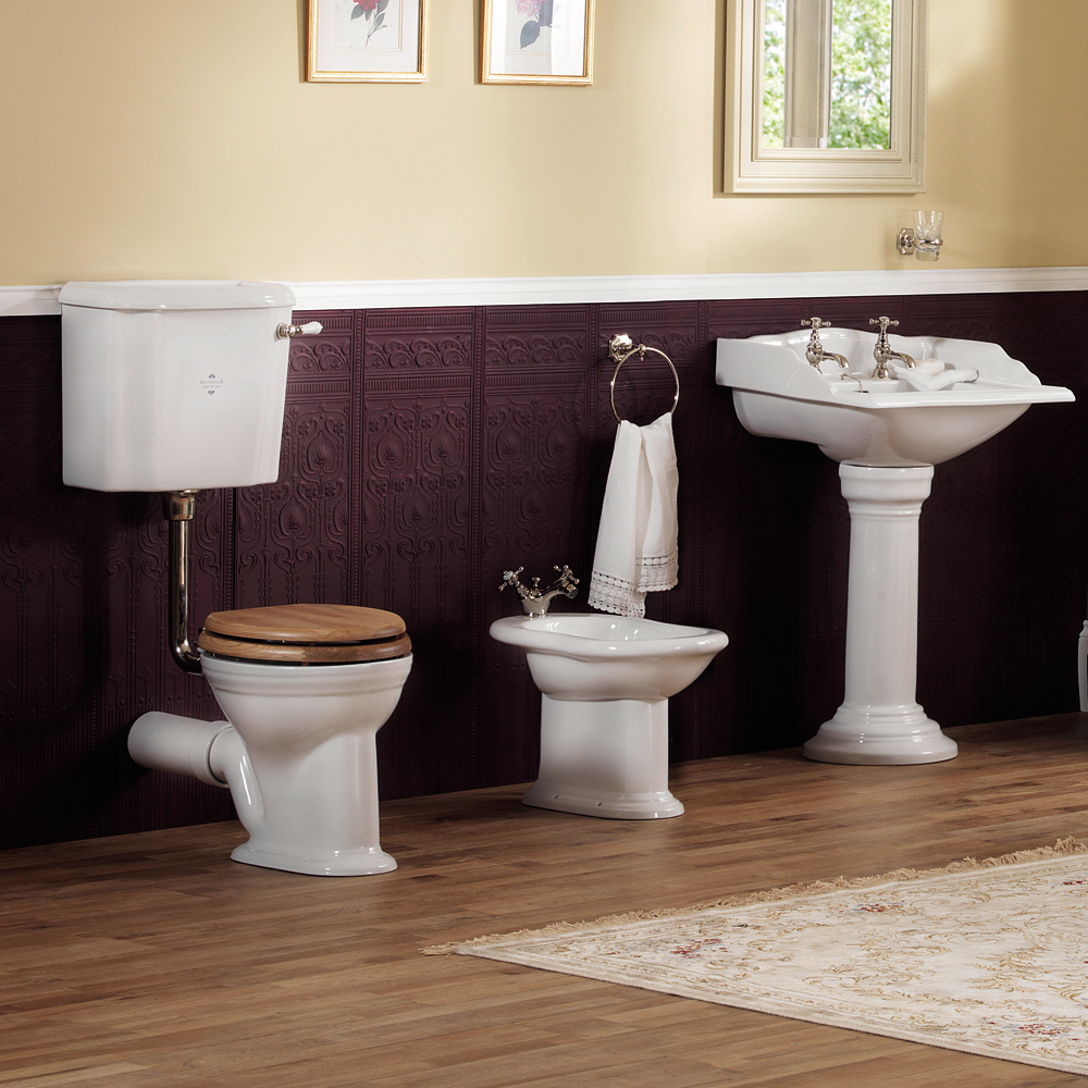 Silverdale Victorian Low Level Toilet - Excludes Seat profile large image view 3
