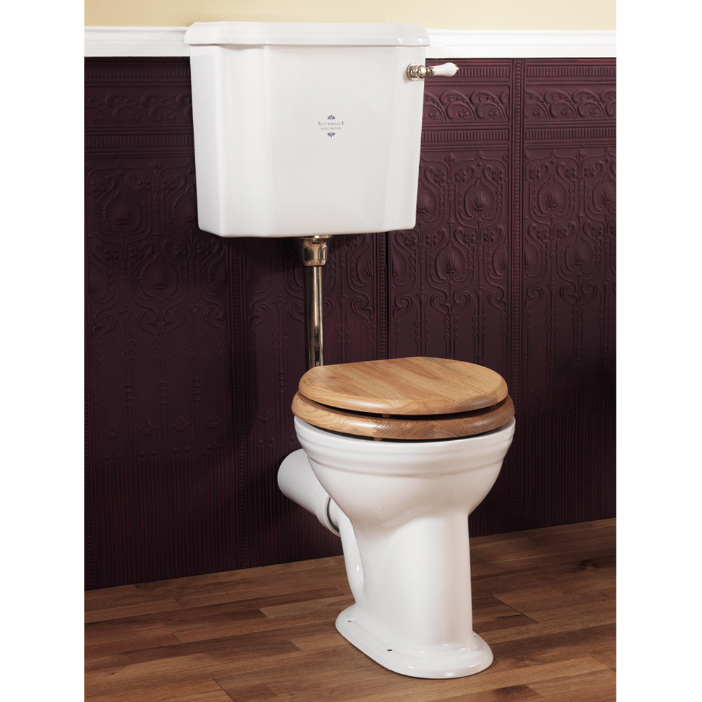 Silverdale Victorian Low Level Toilet - Excludes Seat Large Image