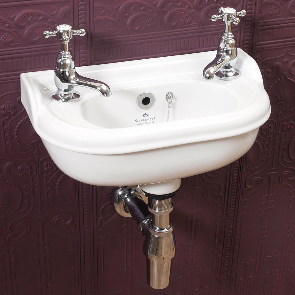Silverdale Victorian Micro Cloakroom Basin - 400mm Wide profile large image view 1