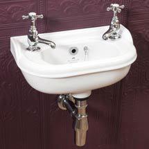Silverdale Victorian Micro Cloakroom Basin - 400mm Wide Medium Image