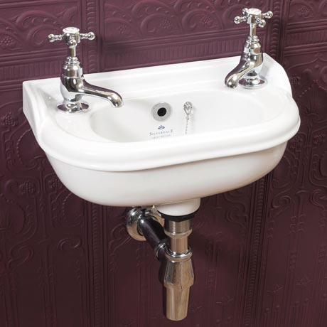 Silverdale Victorian Micro Cloakroom Basin - 400mm Wide