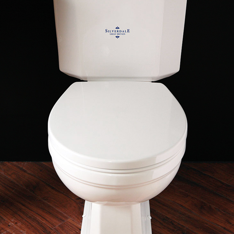 Silverdale White Soft-Close Thermoset Toilet Seat Large Image