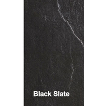 Simpsons - Black Textured Slate Effect Shower Tray with Waste - 5 Size options Profile Large Image