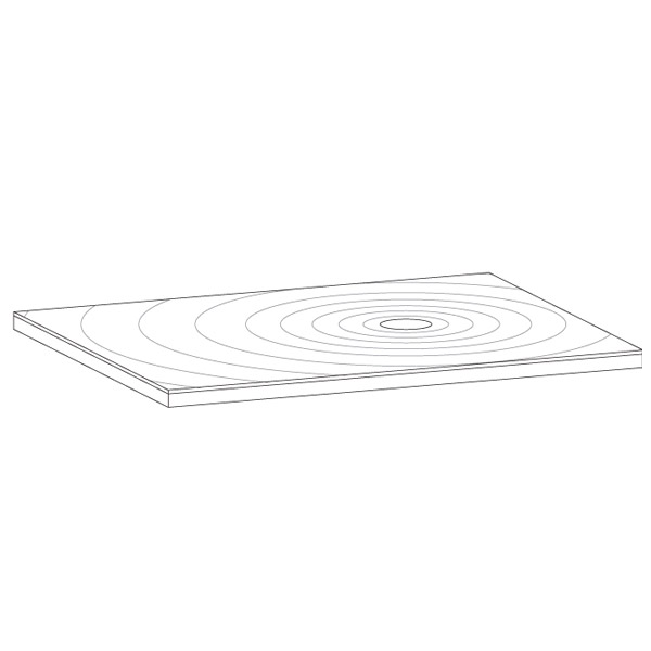 Simpsons White Anti-Slip Textured Slate Effect Shower Tray with Waste - 5 Size options In Bathroom Large Image
