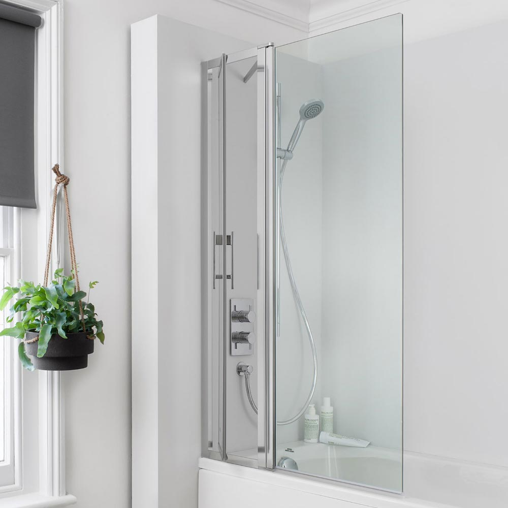 Simpsons Click Easy Reach Bath Screen - 850mm profile large image view 1