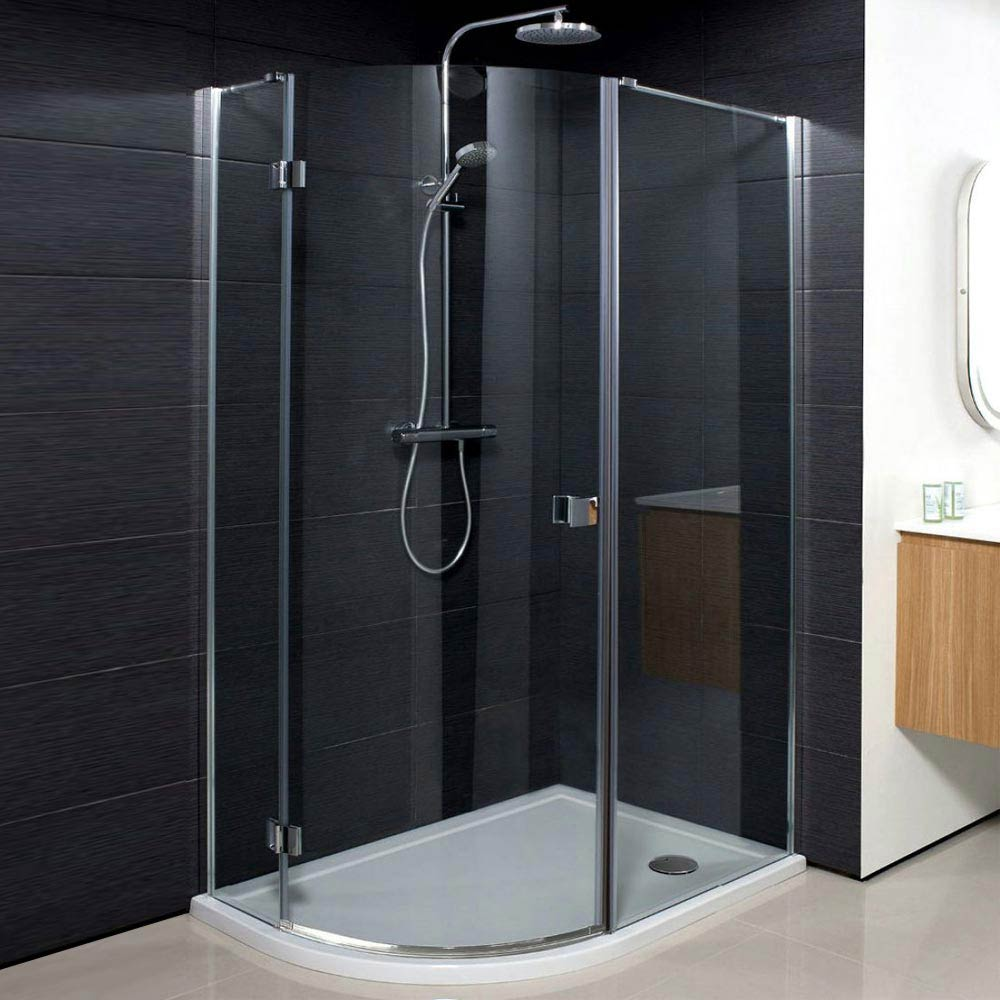 Simpsons Design Offset Quadrant Single Hinged Door Shower Enclosure - 3 Size Options Large Image