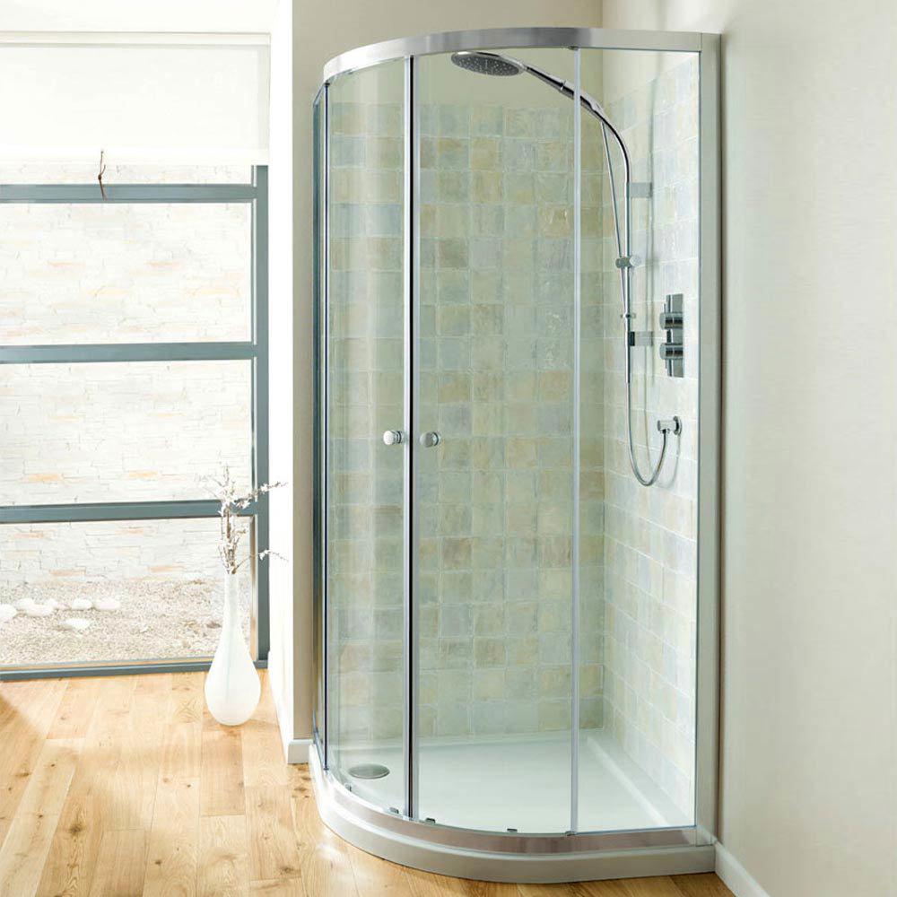 Simpsons Edge Offset Quadrant Double Door Shower Enclosure - 2 Size Options  Profile Large Image