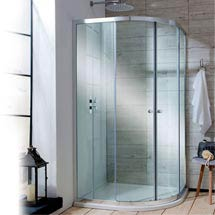 Simpsons Edge Offset Quadrant Double Door Shower Enclosure - 2 Size Options Medium Image