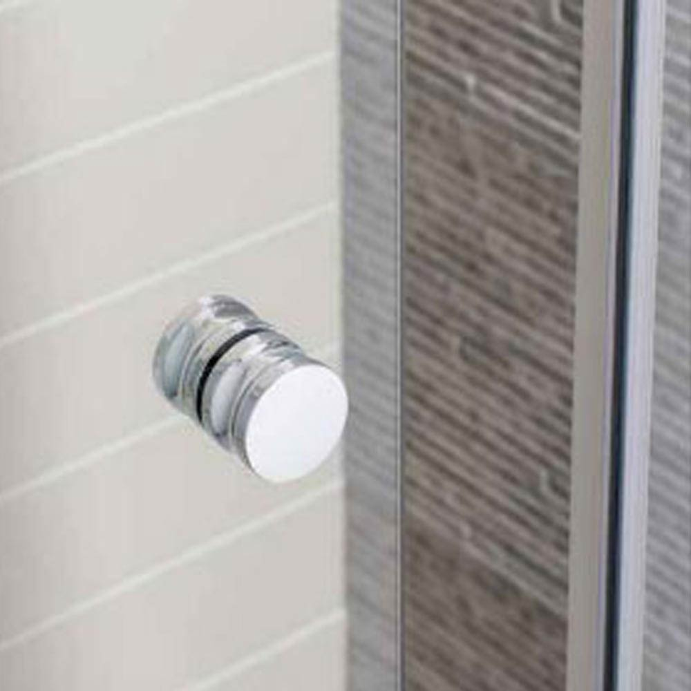 Simpsons Edge Offset Quadrant Single Door Shower Enclosure - 3 Size Options profile large image view 2
