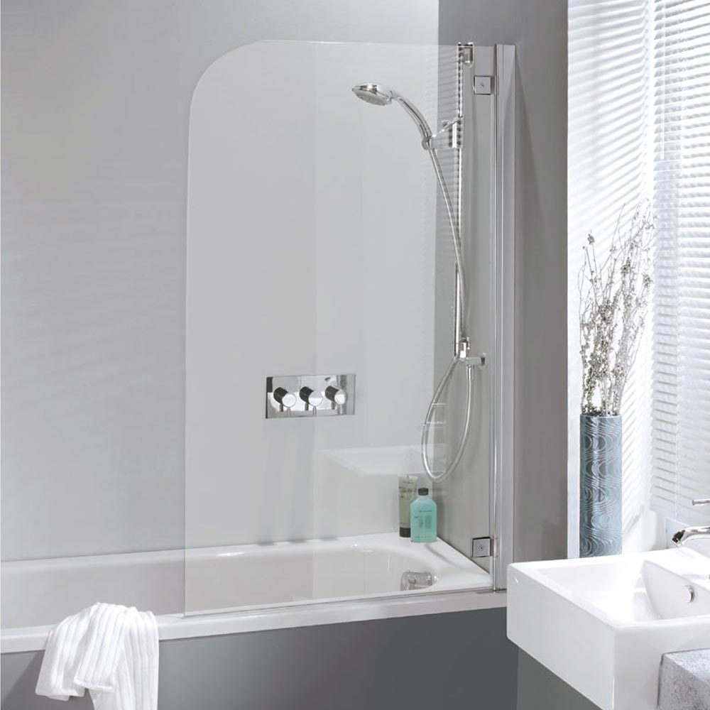 Simpsons Supreme Deluxe Bath Screen - Silver - 2 Size Options profile large image view 1