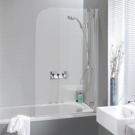 Simpsons Supreme Deluxe Bath Screen - Silver - 2 Size Options