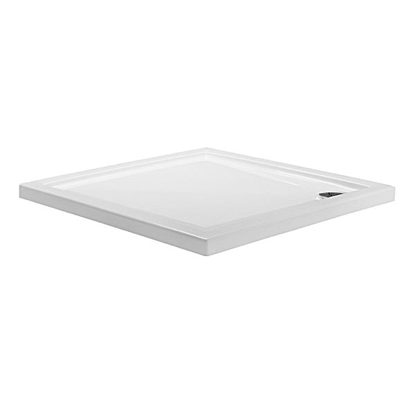 Simpsons - Square Low Profile Acrylic Shower Tray with Waste - 5 Size Options Large Image