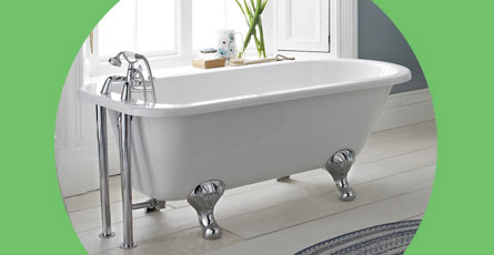 Single Ended Roll Top Baths