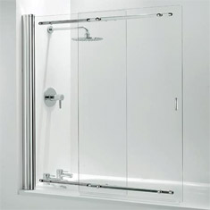bath shower screens fixed hinged sliding victorian bath screens shower screens wickes