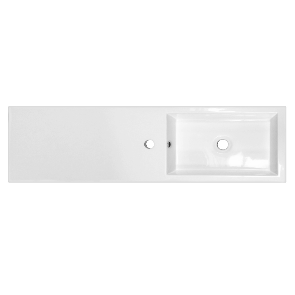 Slimline Combination Basin & Toilet Unit - White Gloss - (1000 x 305mm) profile large image view 3