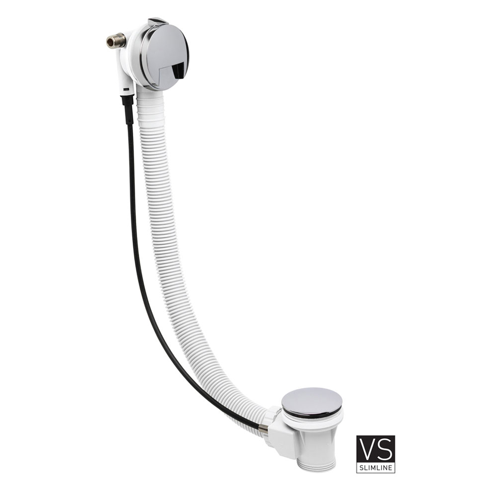 Crosswater Digital Wraith Duo Bath with Slide Rail Kit and Standard Bath Filler profile large image view 5