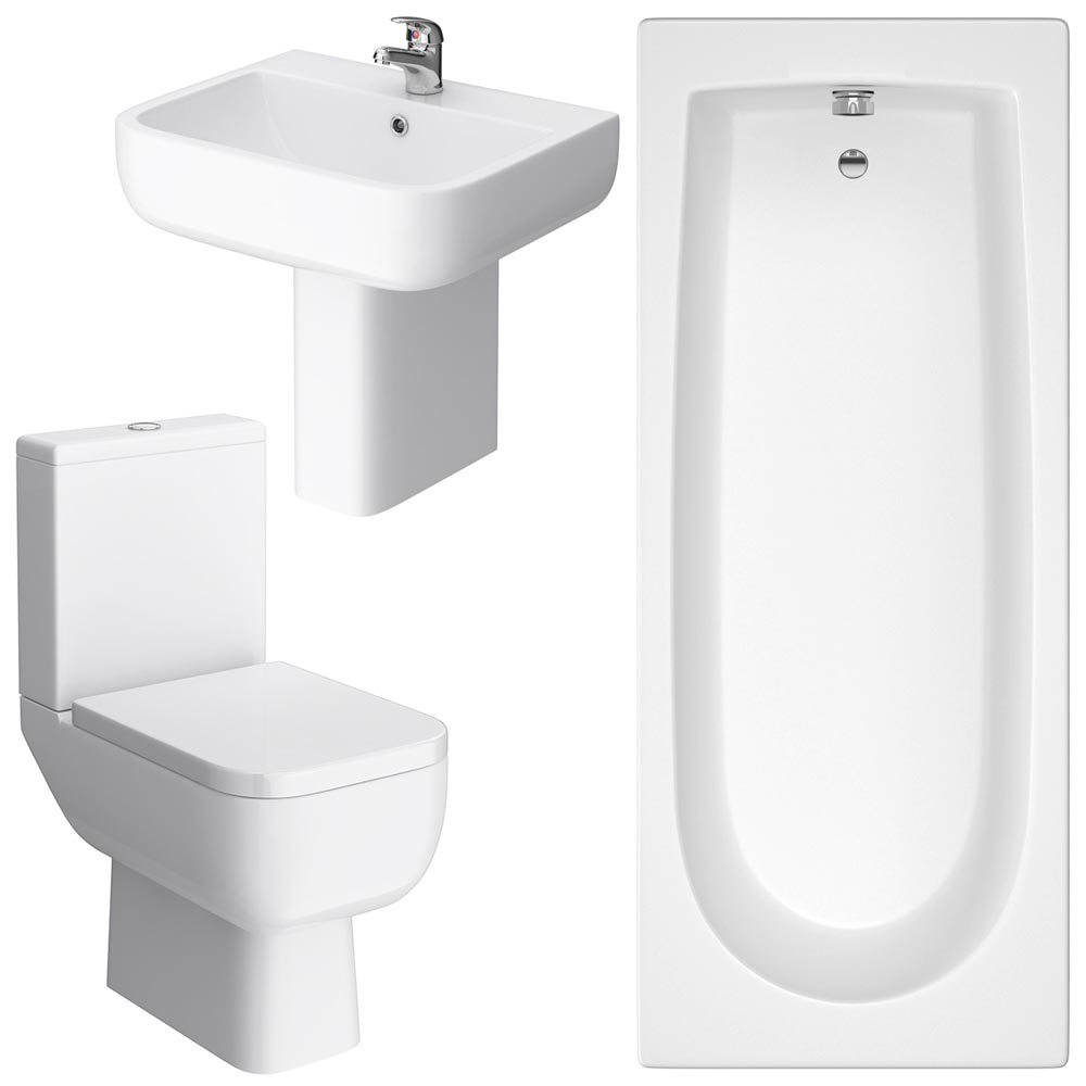Small Modern Bathroom Suite Feature Large Image