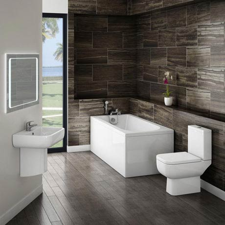 Small Modern Bathroom Suite