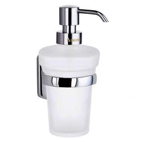 Smedbo Cabin Holder with Frosted Glass Soap Dispenser - Chrome Plated - CK369