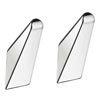 Smedbo Life Single Towel Hook (Pair) - Polished Chrome - GK160 profile small image view 1