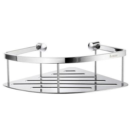 Smedbo Sideline Corner Soap Basket - 200 x 200mm - Polished Chrome - DK3031 Large Image