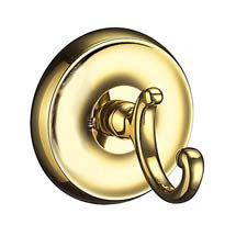 Smedbo Villa - Polished Brass Towel Hook - V255 Medium Image