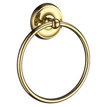 Smedbo Villa - Polished Brass Towel Ring - V244 Medium Image
