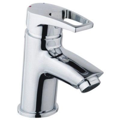 Bristan - Smile Contemporary Basin Mixer w/ Clicker Waste - Chrome - SM-BAS-C Large Image