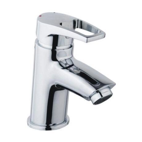 Bristan - Smile Contemporary Basin Mixer w/ Clicker Waste - Chrome - SM-BAS-C