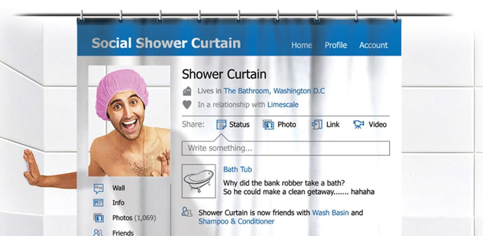 Wacky shower curtain