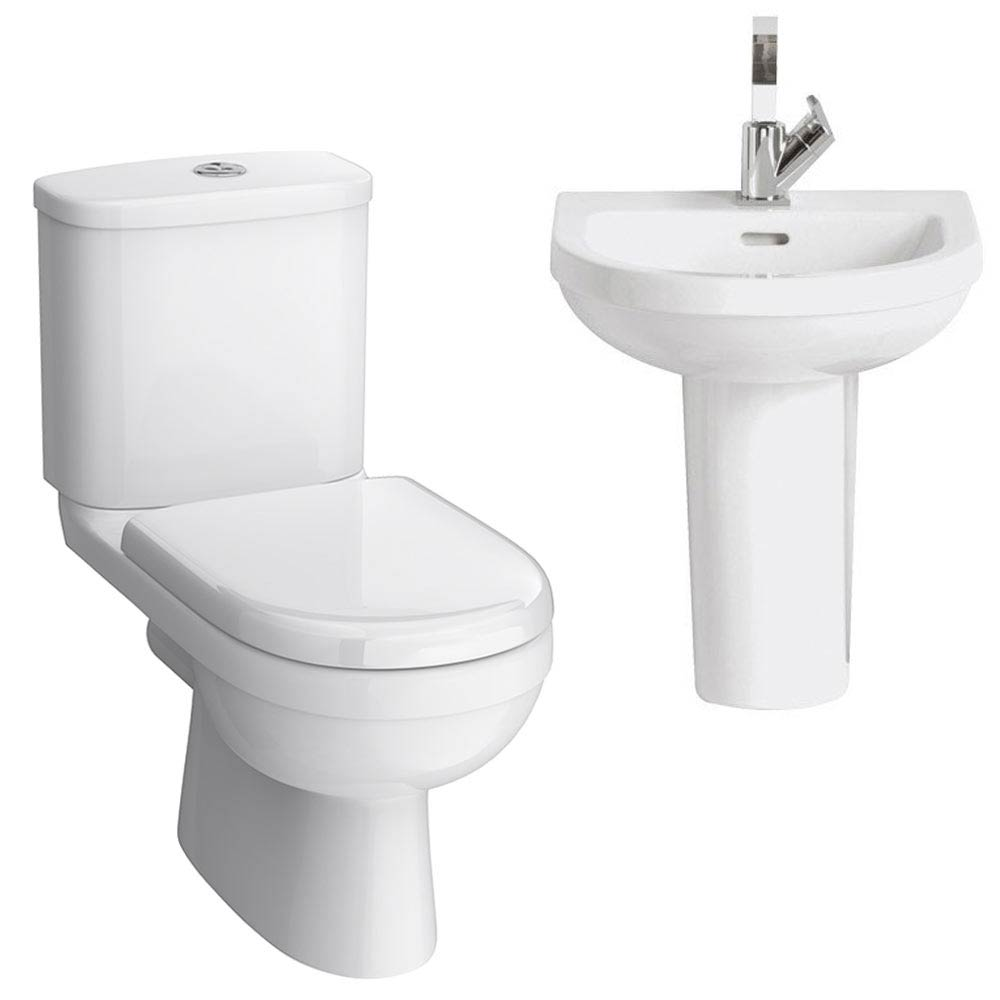 Sofia Cloakroom Suite (Toilet + Basin Inc. Semi Pedestal) Large Image