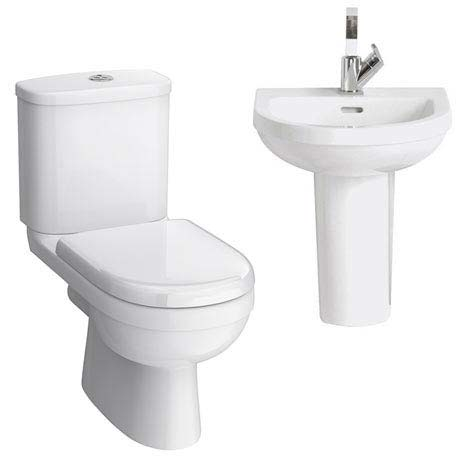Sofia Cloakroom Suite (Toilet + Basin Inc. Semi Pedestal)