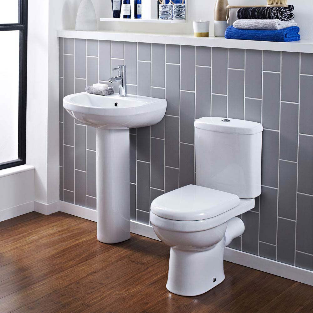 Sofia Modern Basin with Full Pedestal (1 Tap Hole - Various Sizes)  Profile Large Image