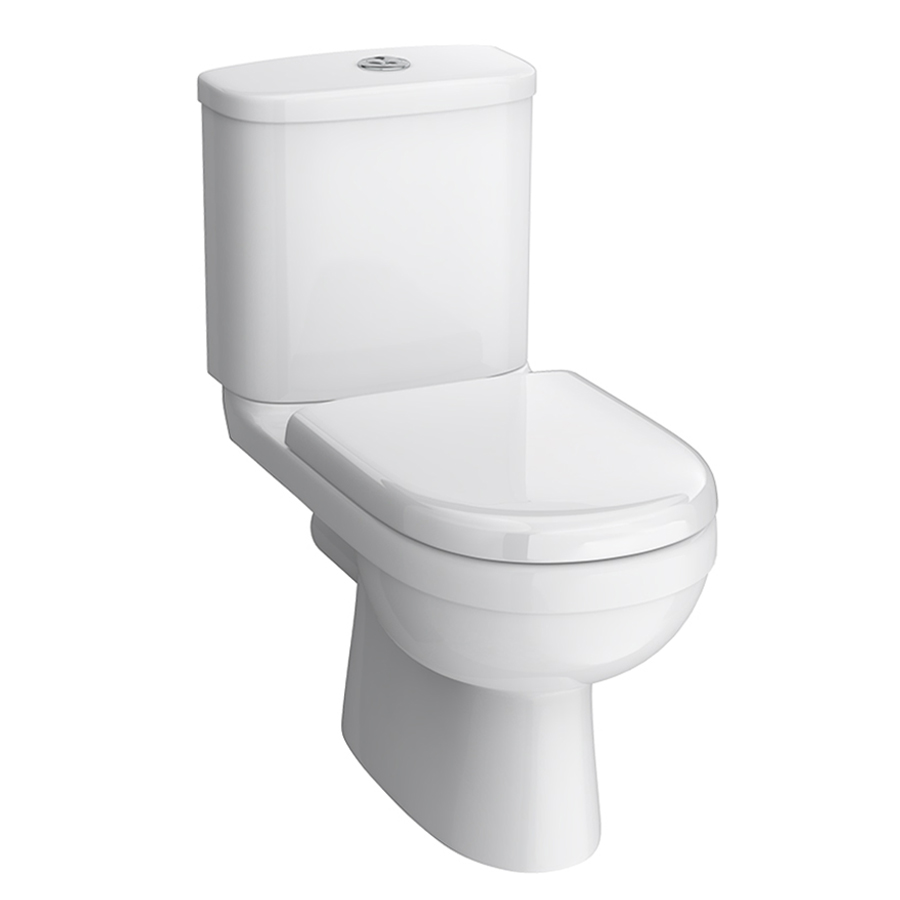 toilet  basin sale  massive savings  victorian plumbing uk - sofia modern close coupled toilet with softclose seat medium image sale