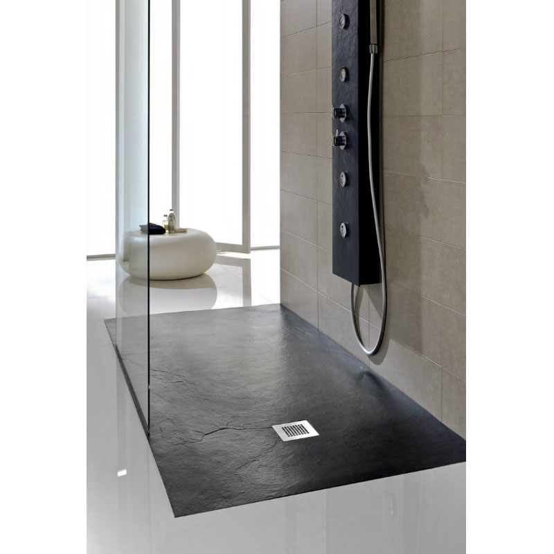 jt softstone shower tray black now at victorian. Black Bedroom Furniture Sets. Home Design Ideas