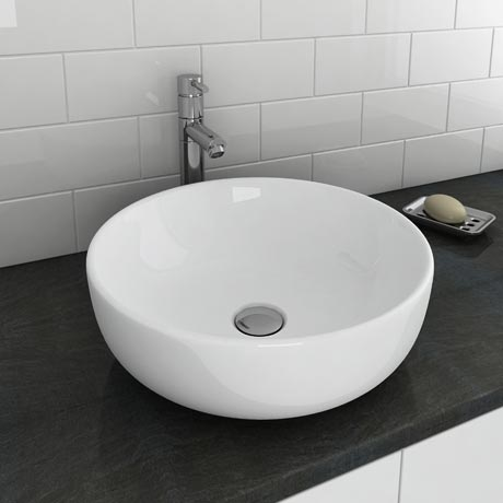 Sol Round Counter Top Basin 0TH - 400mm Diameter