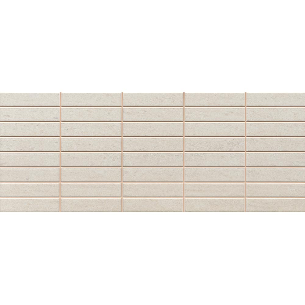 Sorrento Limestone Mosaic Wall Tile (Gloss - 200 x 500mm) Large Image