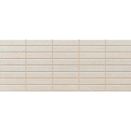 Sorrento Limestone Mosaic Wall Tile (Gloss - 200 x 500mm)