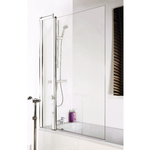 1400 Hinged Square Bath Screen with Fixed Panel - NSSQ1 Profile Large Image