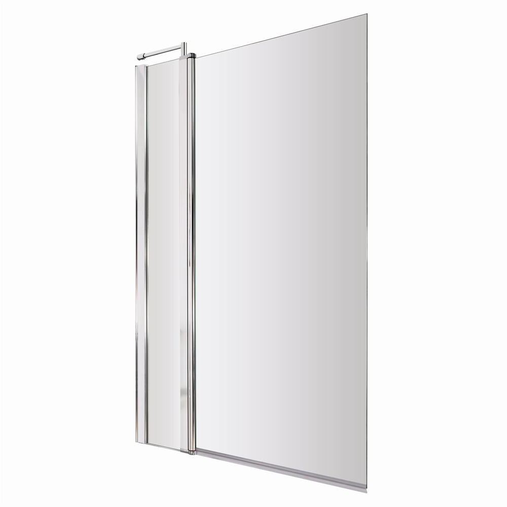 1400 Hinged Square Bath Screen with Fixed Panel - NSSQ1 profile large image view 1