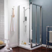 Square Bi-Fold Pacific Enclosure Inc. Shower Tray + Waste - Various Sizes Medium Image